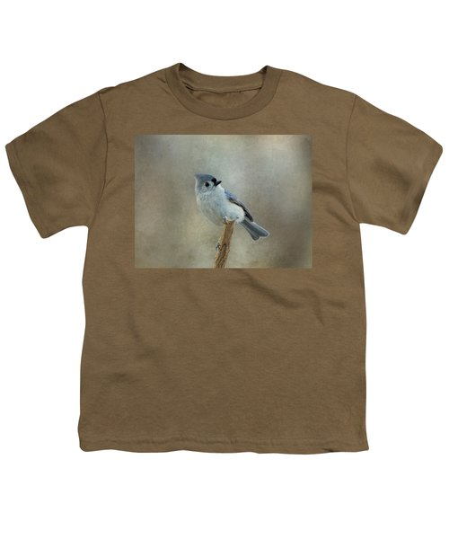 Tufted Titmouse Watching Youth T-Shirt
