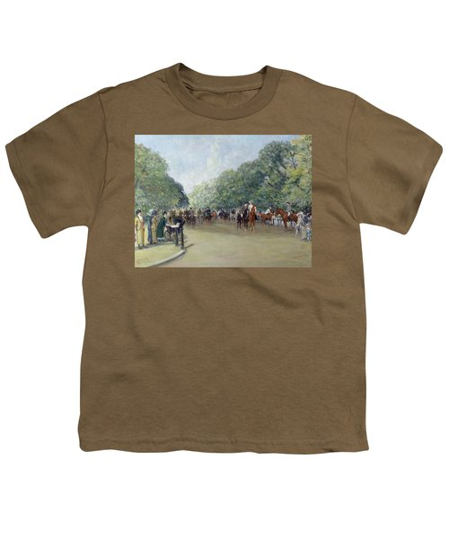 View Of Hyde Park With Figures On Rotten Row  Youth T-Shirt