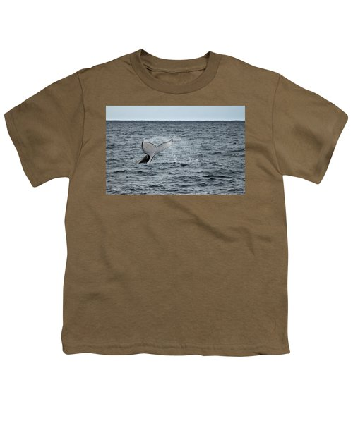Youth T-Shirt featuring the photograph Whale Of A Time by Miroslava Jurcik