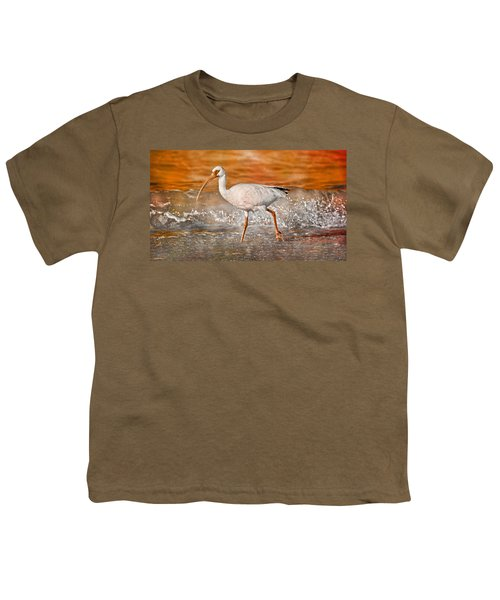 White Ibis Stroll Youth T-Shirt