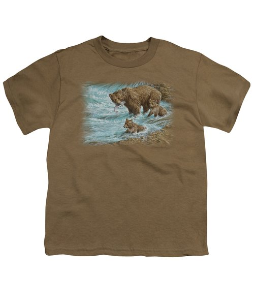 Wildlife - Alaskan Brown Bear Youth T-Shirt