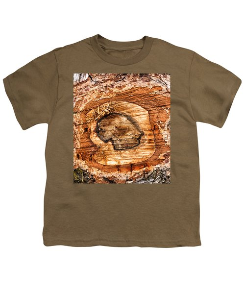 Wood Detail Youth T-Shirt by Matthias Hauser