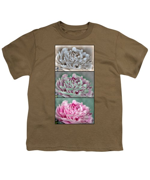 Peony Named Shirley Temple Youth T-Shirt by J McCombie