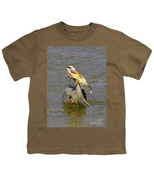 Bigger Fish To Fry Youth T-Shirt by Robert Frederick