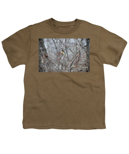 Cedar Wax Wing 3 Youth T-Shirt
