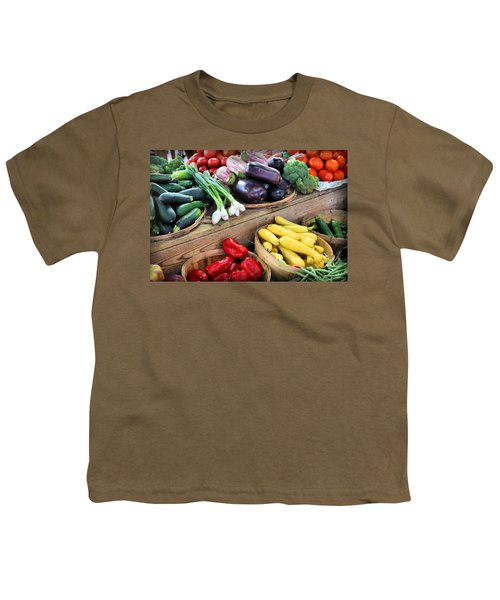 Farmers Market Summer Bounty Youth T-Shirt by Kristin Elmquist