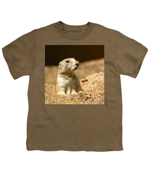 Prarie Dog Bee Alert Youth T-Shirt
