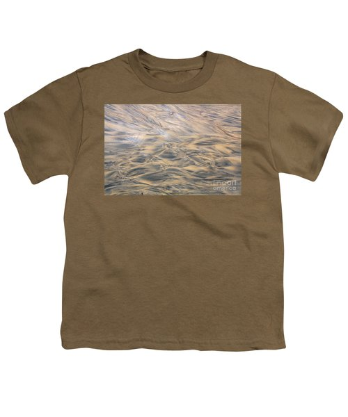 Youth T-Shirt featuring the photograph Sand Patterns by Nareeta Martin