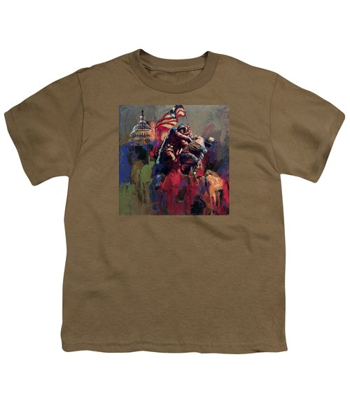 062 Jima Marine Memorial Washington Dc Youth T-Shirt