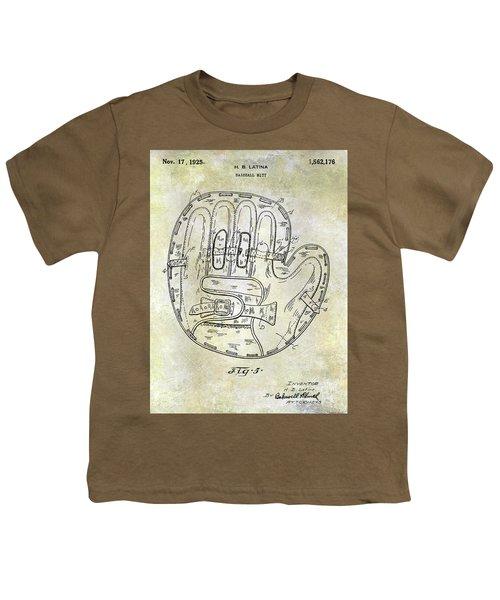 1925 Baseball Glove Patent Youth T-Shirt