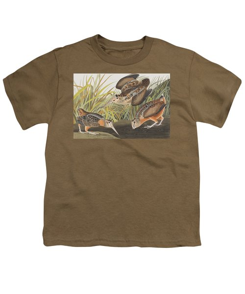 American Woodcock Youth T-Shirt by John James Audubon