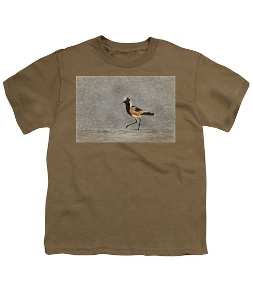 Black-winged Lapwing Art Youth T-Shirt by Kay Brewer