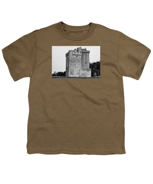Clackmannan Tower Youth T-Shirt by Jeremy Lavender Photography