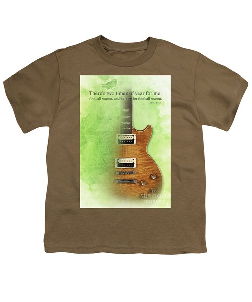 Darius Rucker Inspirational Quote, Electric Guitar Poster For Music Lovers And Musicians Youth T-Shirt