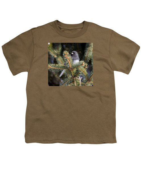 Youth T-Shirt featuring the photograph Dark-eyed Junco by Ricky L Jones