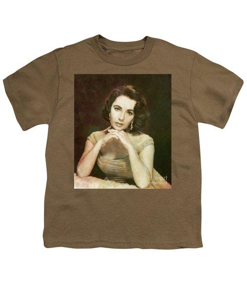 Elizabeth Taylor, Vintage Hollywood Legend By Mary Bassett Youth T-Shirt
