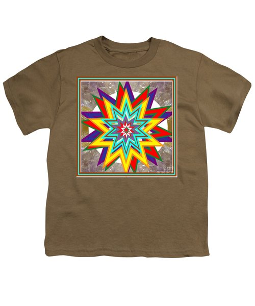 Holy Star White Purple Blue On Crystal Stone Marble Unique Shades Tones Textures Buy Wall Decoration Youth T-Shirt by Navin Joshi