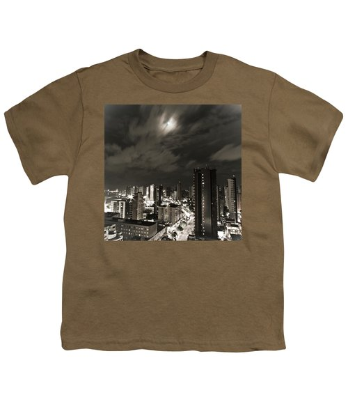 Long Exposure Youth T-Shirt by Cesar Vieira