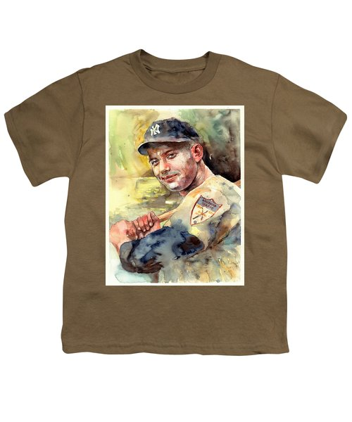 Mickey Mantle Portrait Youth T-Shirt