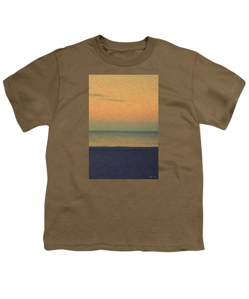 Not Quite Rothko - Breezy Twilight Youth T-Shirt by Serge Averbukh
