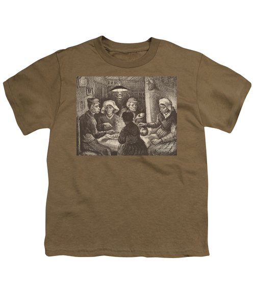 Potato Eaters, 1885 Youth T-Shirt by Vincent Van Gogh