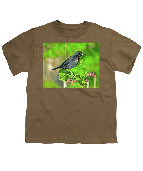 Red-winged Blackbird Youth T-Shirt