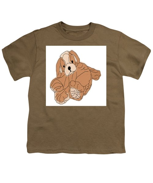 Youth T-Shirt featuring the digital art Soft Puppy by Jayvon Thomas