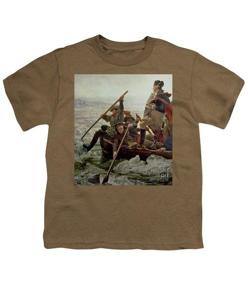 Washington Crossing The Delaware River Youth T-Shirt by Emanuel Gottlieb Leutze