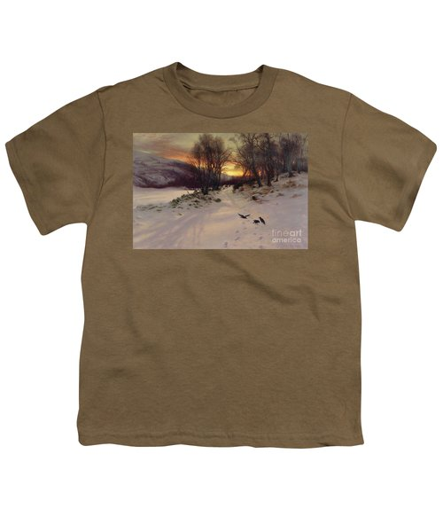 When The West With Evening Glows Youth T-Shirt by Joseph Farquharson