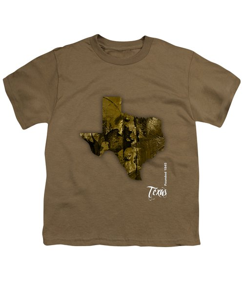 Texas State Map Collection Youth T-Shirt by Marvin Blaine