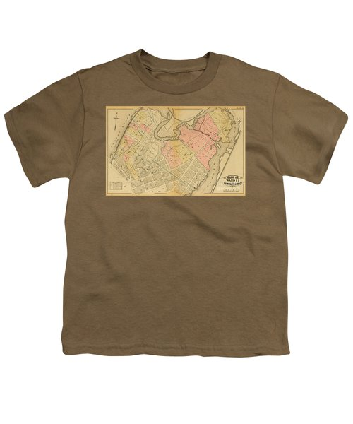 1879 Inwood Map  Youth T-Shirt by Cole Thompson