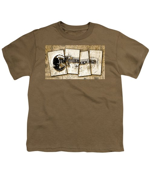 1955 Les Paul Custom Black Beauty V5 Youth T-Shirt by Gary Bodnar