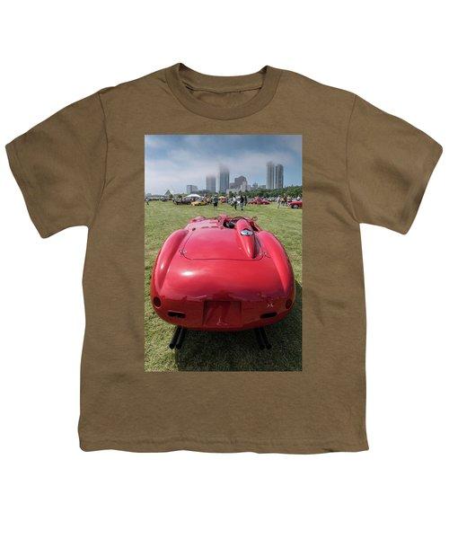 Youth T-Shirt featuring the photograph 1956 Ferrari 290mm - 2 by Randy Scherkenbach
