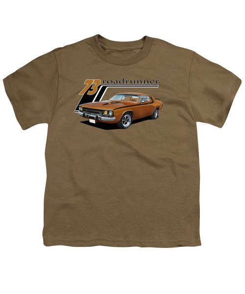 1973 Roadrunner Youth T-Shirt by Paul Kuras
