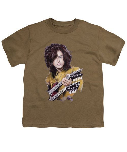 Jimmy Page Youth T-Shirt by Melanie D