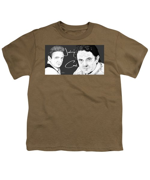 Johnny Cash Youth T-Shirt by Bill Richards