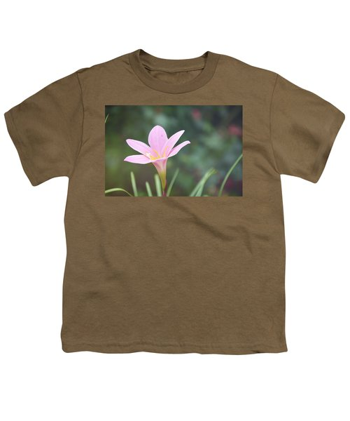 Pink Flower Youth T-Shirt by Gordana Stanisic