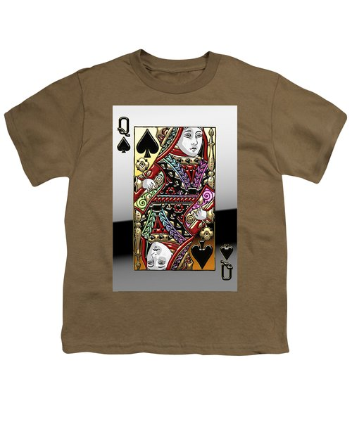 Queen Of Spades  Youth T-Shirt