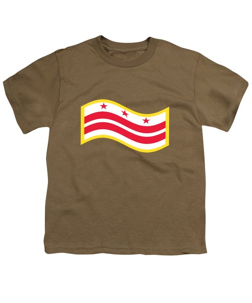 Washington, D.c. Flag Youth T-Shirt by Frederick Holiday
