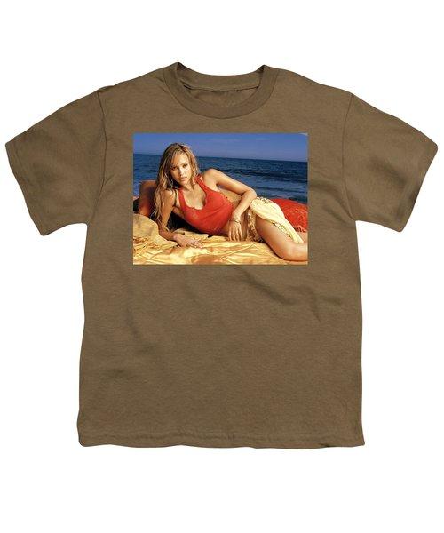 2482 Celebrity Jessica Alba  Youth T-Shirt