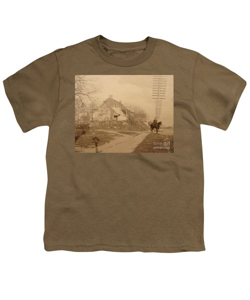 Dyckman Farmhouse  Youth T-Shirt by Cole Thompson