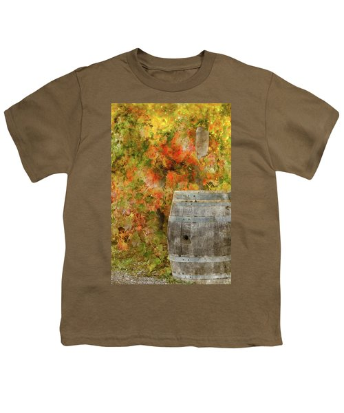 Wine Barrel In Autumn Youth T-Shirt