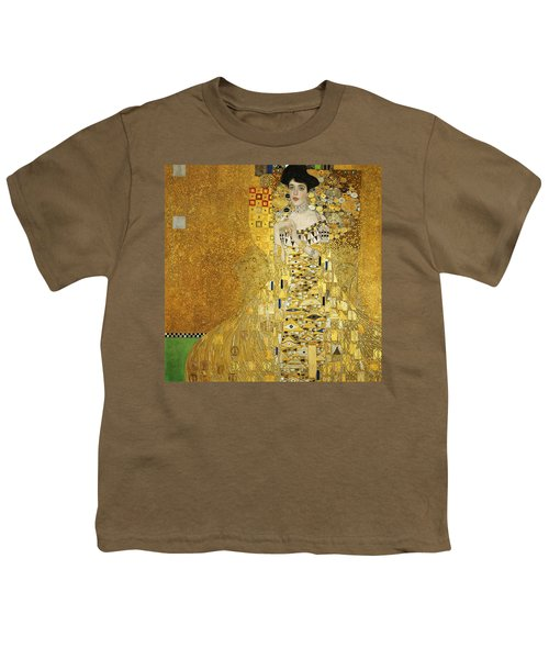 Portrait Of Adele Bloch-bauer I Youth T-Shirt by Gustav Klimt