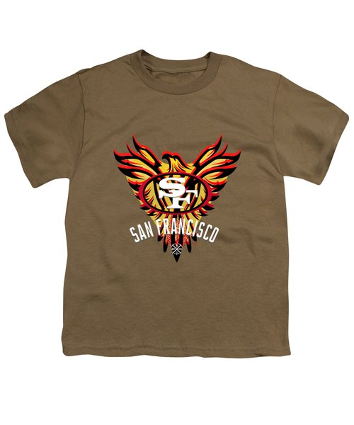 49er Phoenix  Youth T-Shirt by Douglas Day Jones
