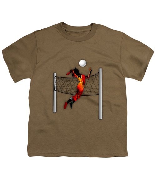 Vollyball Collection Youth T-Shirt by Marvin Blaine
