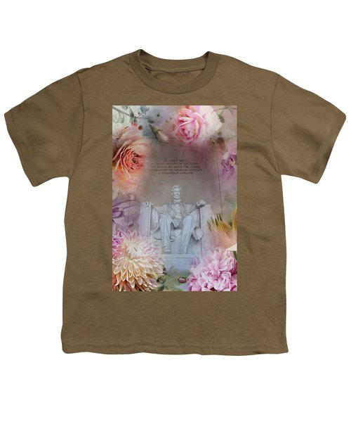 Abraham Lincoln Memorial At Spring Youth T-Shirt by Marianna Mills
