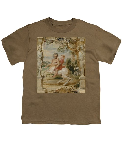 Achilles Educated By The Centaur Chiron Youth T-Shirt