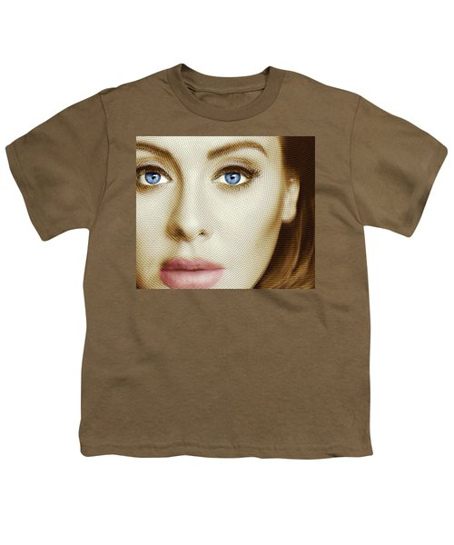 Adele Painting Circle Pattern 1 Youth T-Shirt by Tony Rubino
