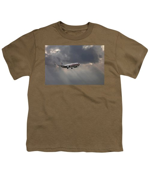 American Aircraft Landing After The Rain. Miami. Fl. Usa Youth T-Shirt
