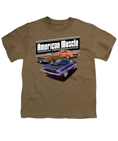 American Mopar Muscle Youth T-Shirt by Paul Kuras